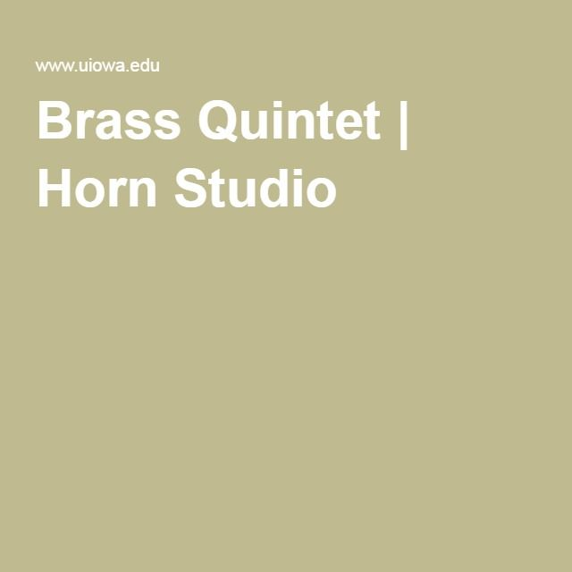 Brass Quintet | Horn Studio