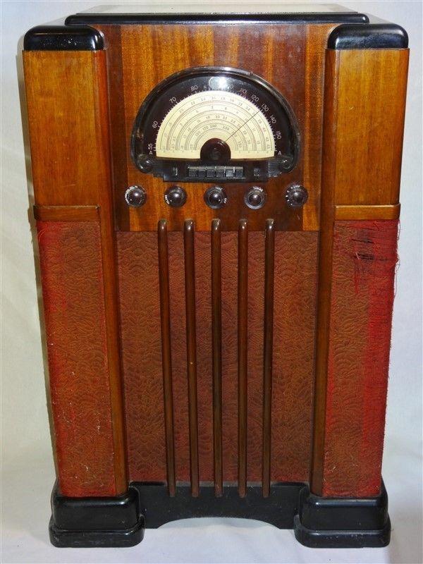 Rare 1930s Midwest Console Radio Works As Is Ebay Antique Radio Vintage Radio Retro Radios