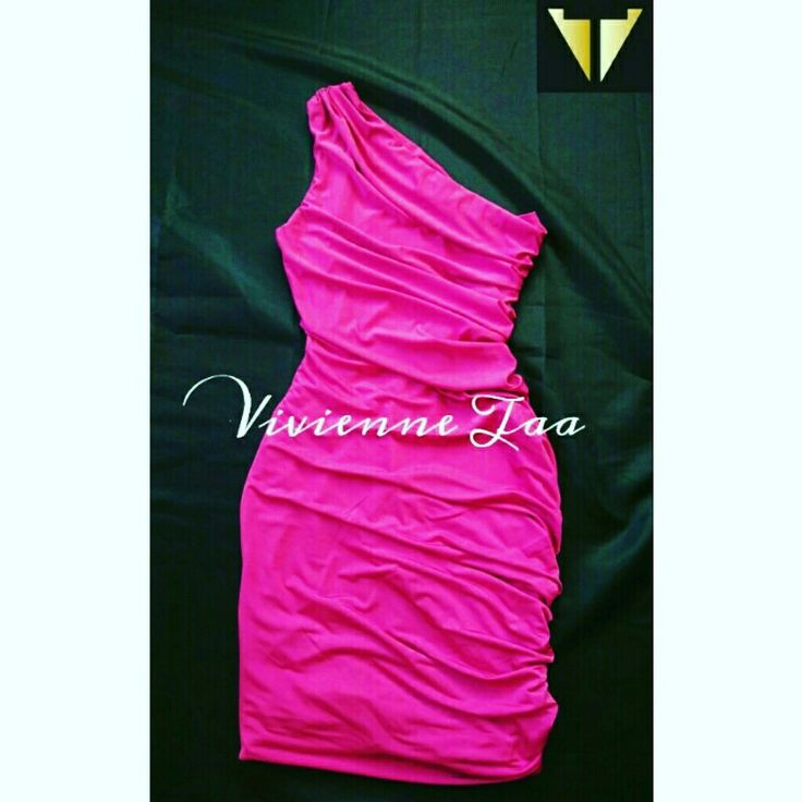 Hot pink body con dress