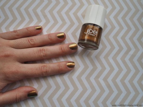 Joe Fresh nail polish in the shade Bronze