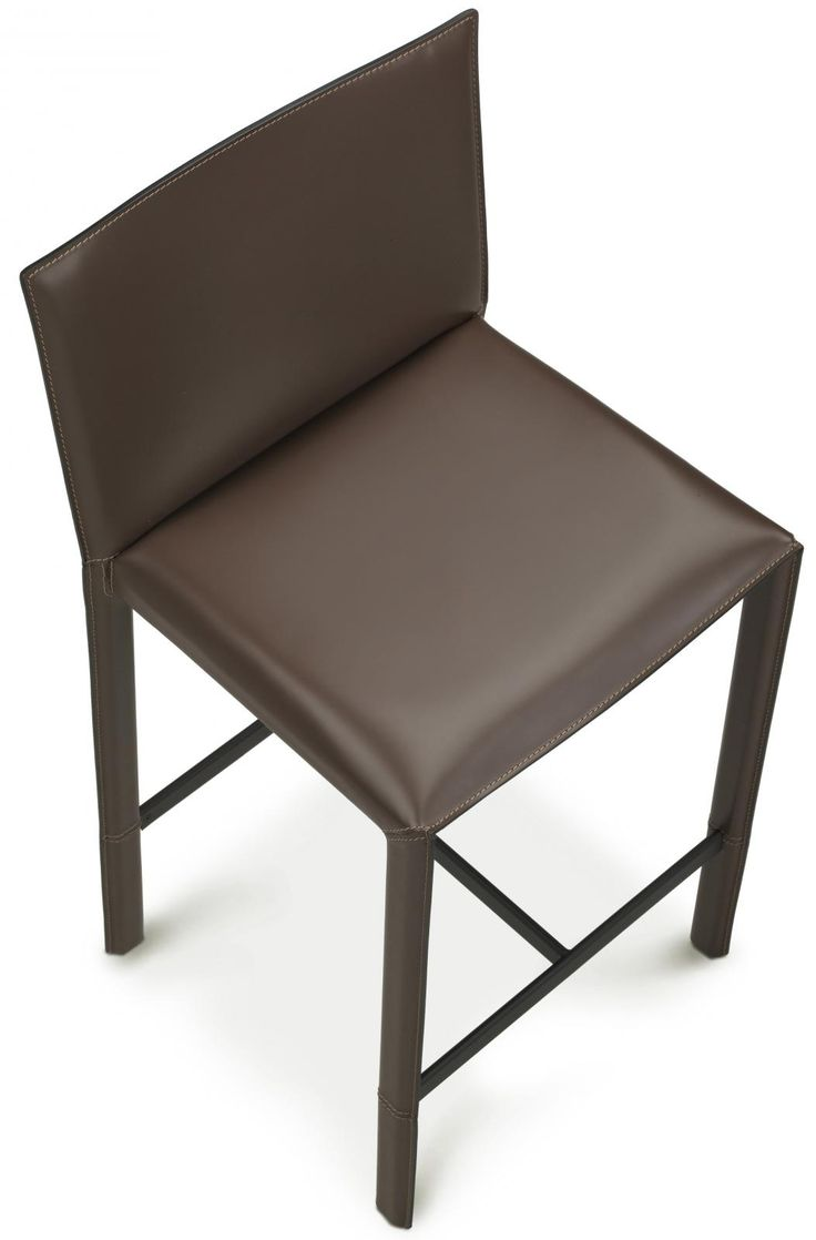 Modern Leather Bar And Counter Stools Made In Italy