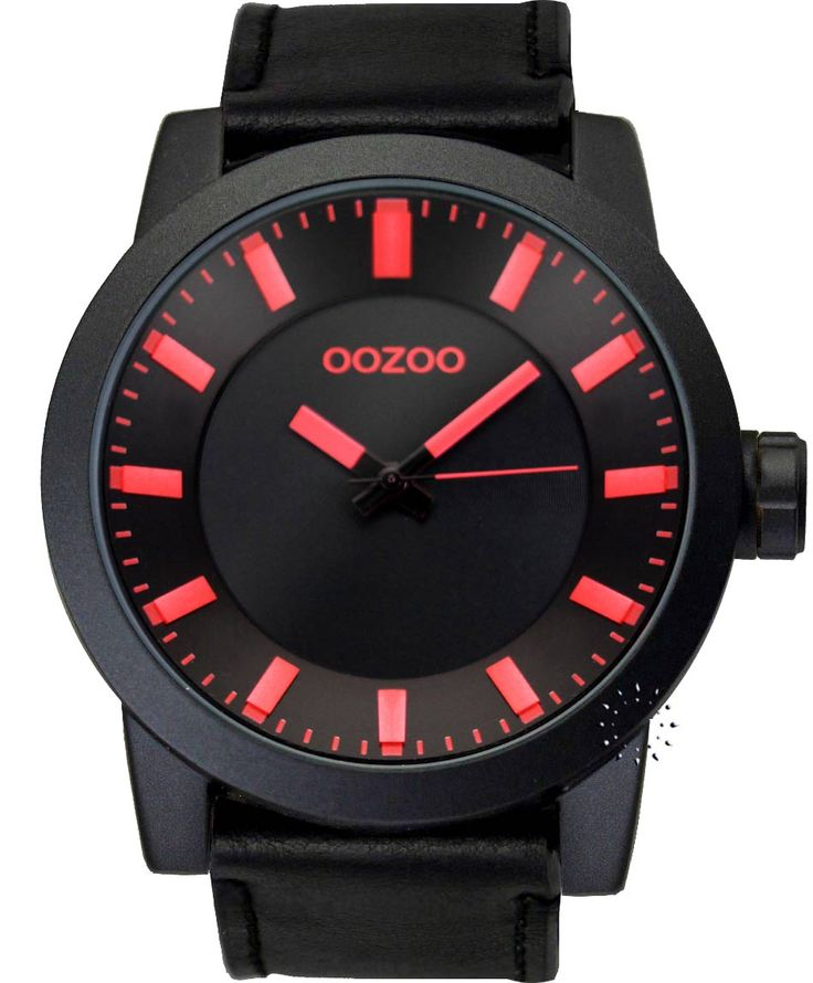 OOZOO Large Τimepieces All Black Leather Strap Η τιμή μας: 69€ http://www.oroloi.gr/product_info.php?products_id=34672