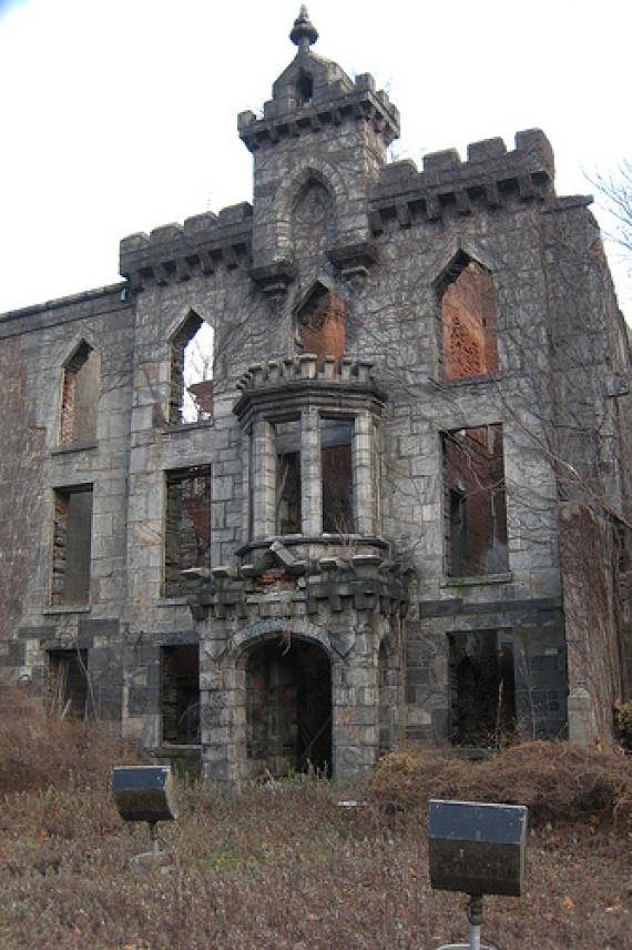 "Abandoned Smallpox Hospital is located on Roosevelt Island, a narrow island, in the East River of New York City. The Smallpox Hospital will be known as ""Renwick Ruins"" or ""Renwick Smallpox Hospital"".  Roosevelt Island was known as the Welfare Island from 1921 to 1973."