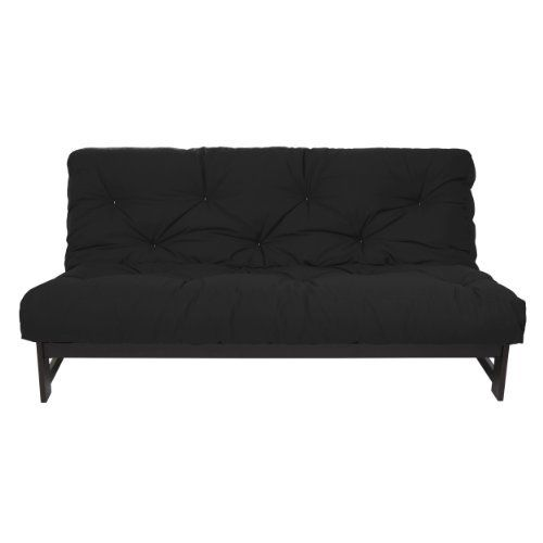 Mozaic 8-Inch Dual Memory Foam Futon Mattress, Full, Black by Mozaic. $231.20. Care Instructions: Spot clean with cold water and mild detergent; Reversible for extended wear. Made in the USA. Made of cotton and foam; Futon frame not included. Full Size Mattress. Futon mattress ships vacuum packed; allow several days for mattress to expand to its complete size. This dual memory futon mattress features two one-inch layers of visco memory foam with cotton-wrapped foam construc...