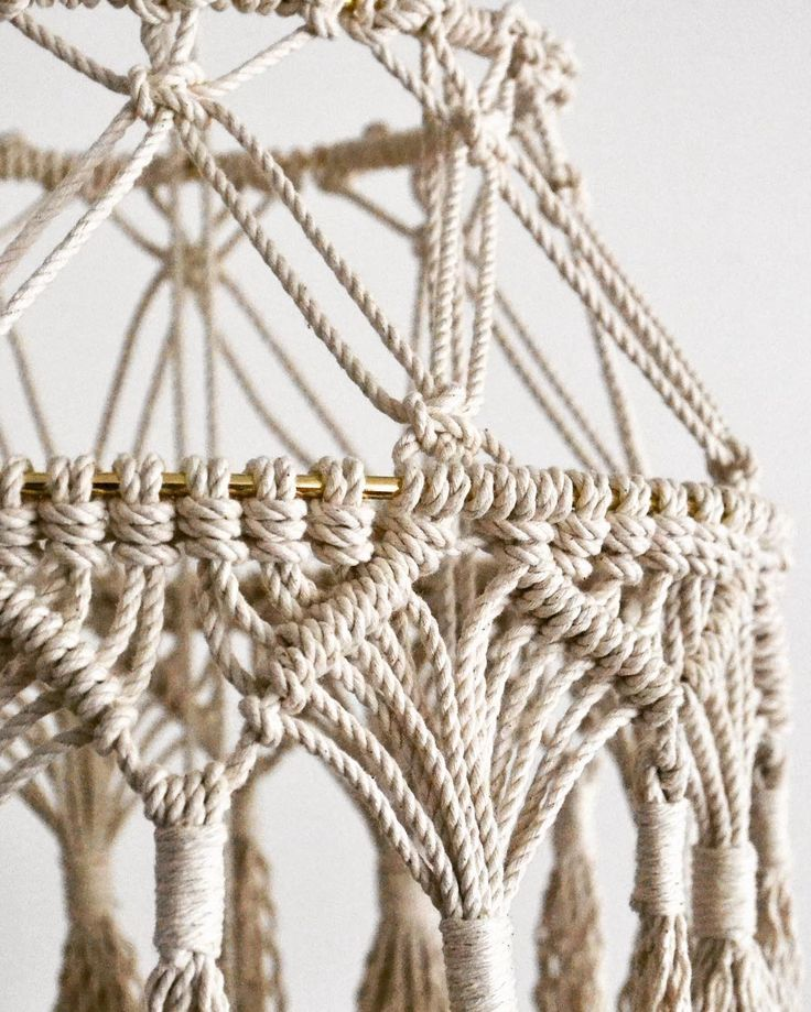 1279 best Macrame Lampshades images on Pinterest