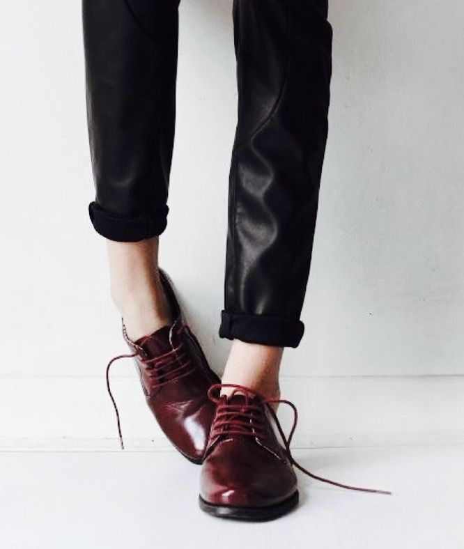 fashion | style | leather pants | red shoes | spring fashion | leather