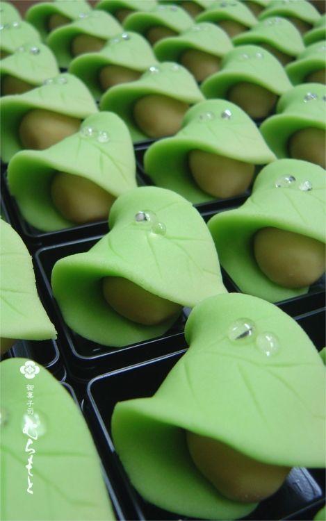 """""""After rain"""" namagashi, Japanese traditional confectionery."""