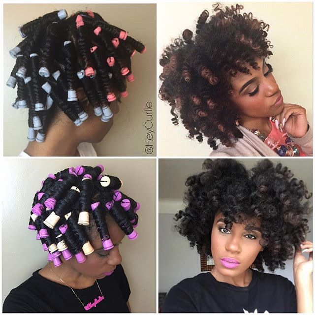 Perm Rod Set On Dry Natural Hair Natural Hair Tutorials