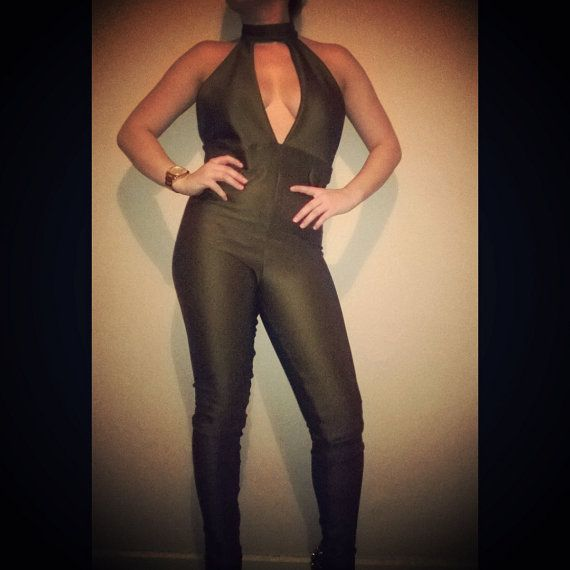 Check out Olive Green Jumpsuit on funkyroxboutique