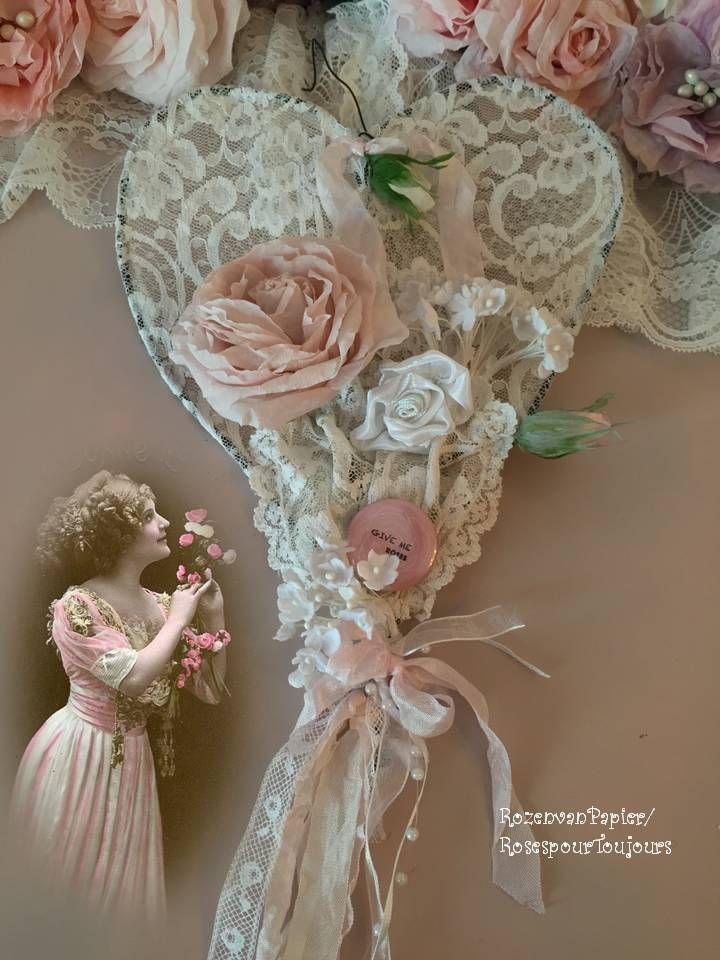 Rozen van Papier: Hartje van kant en rozen....