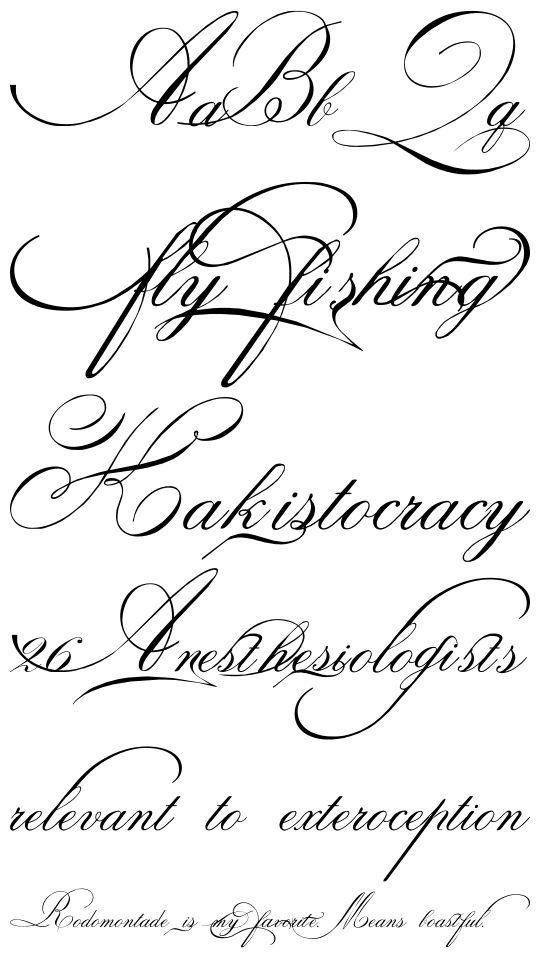 43 best script tattoo fonts images on pinterest for Cursive tattoo fonts
