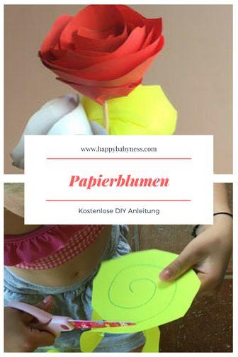 #PAPIERBLUMEN ___ *** Kostenlose #DIY Anleitung a…