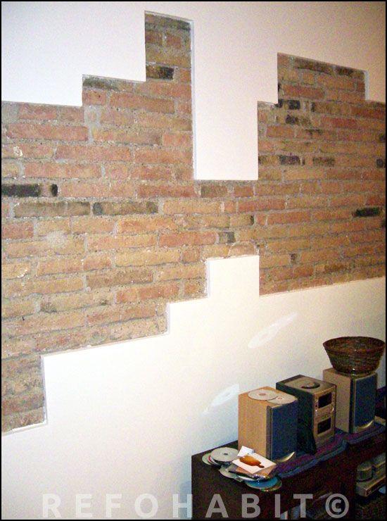 Rellenado y restaurado de ladrillo obra vista combinado - Plaquetas de ladrillo ...