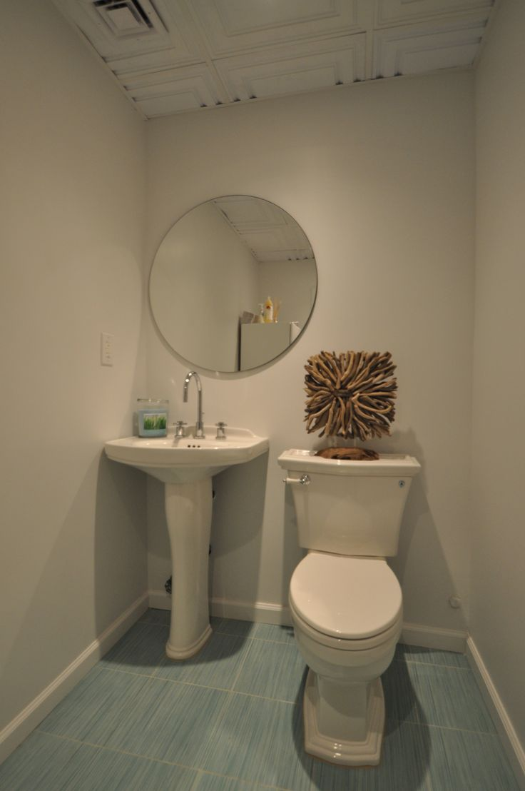 Commercial 1/2 Bath with Toto Fixtures and Pedestal Sink Bathrooms ...