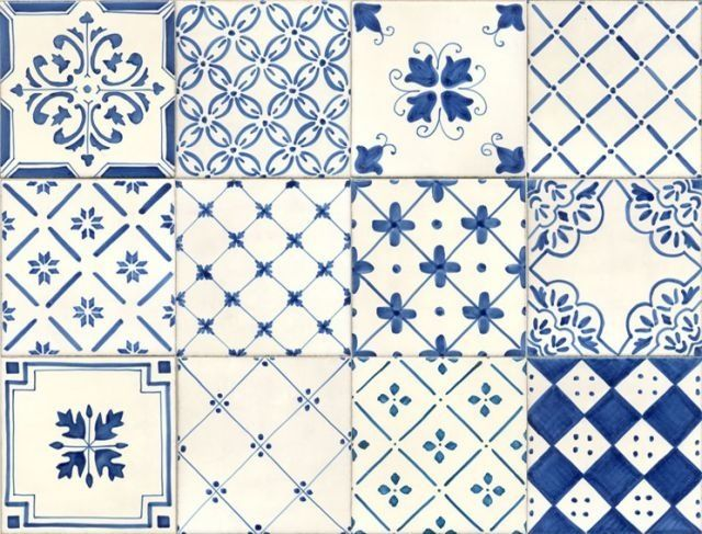Portuguese style... blue and white tiles