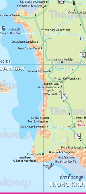 Map of Samui