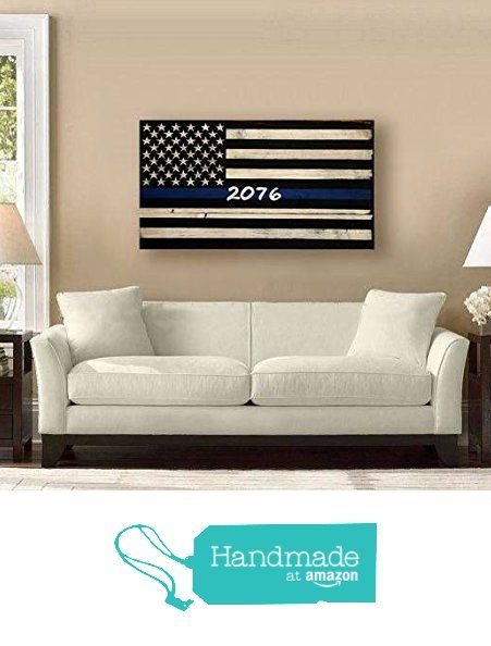 Large Thin Blue Line Flag With Badge Number/Name from Rustic Patriot Arts https://www.amazon.com/dp/B01EFOMDGU/ref=hnd_sw_r_pi_dp_IMg8xbJXC8F5T #handmadeatamazon