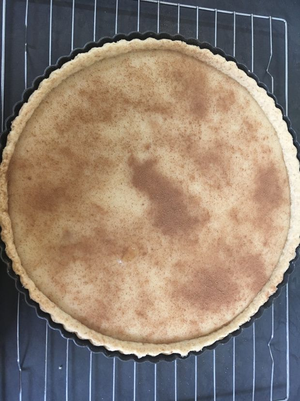 Eggless milk tart