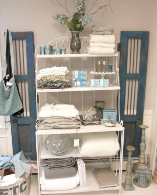 bakers rack bath and body and vintage turquoise on pinterest