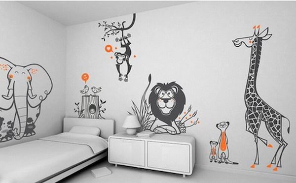 Animal Wall Stickers Kids Bedroom Ideas