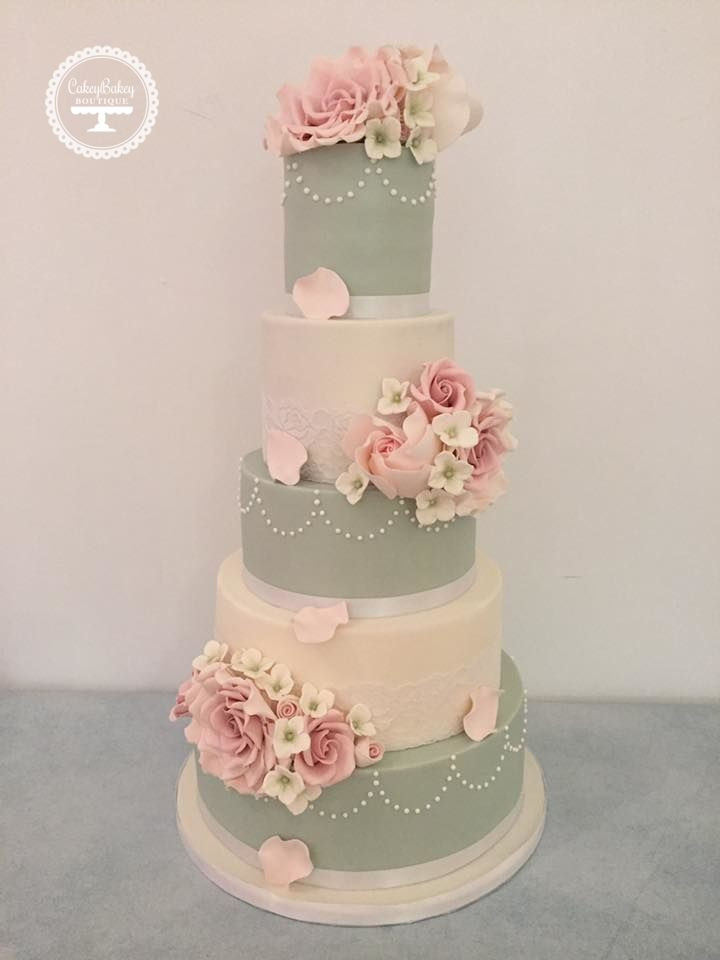 soft pink and silver wedding cakes blush pink green and ivory wedding cake br 246 llopet 20278