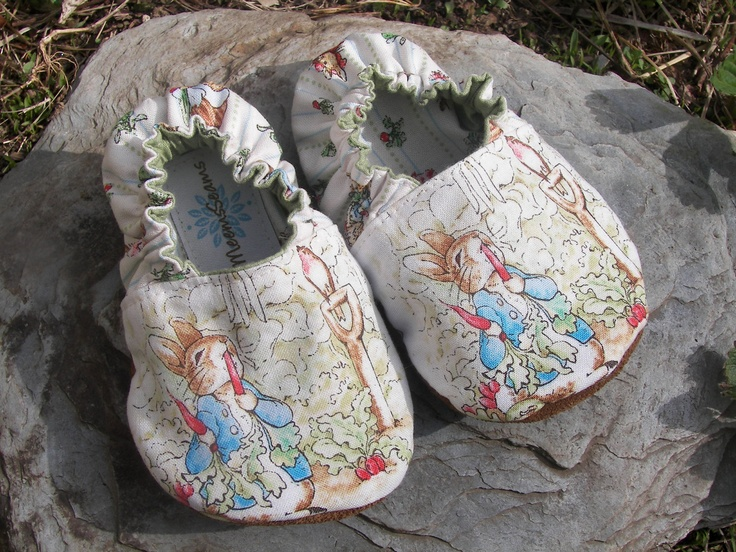 PETER RABBIT in the Garden Baby Shoes--Baby's First Shoe