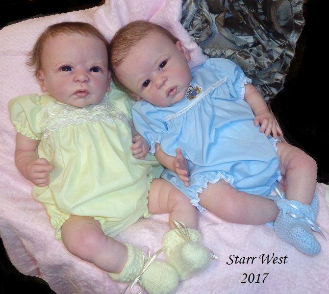 Chloe & Anna Sculpts by Linda Murray Reborn Artist: Starr West