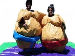 Jumbo Sumo Suits From Castle Capers Jumping Castle Hire check out all the details at http://www.castlecapers.com.au