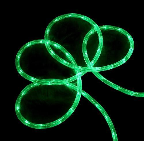 288' Commericial Grade Green LED Indoor/Outdoor Christmas Rope Lights on a Spool