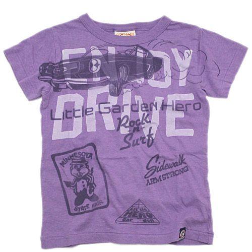 GOTHAM(ゴッサム):ドライビングTシャツ ラベンダー の通販【ブランド子供服のミリバール】