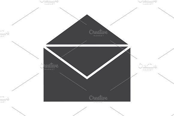 Open letter icon. Vector. Envelope #letter