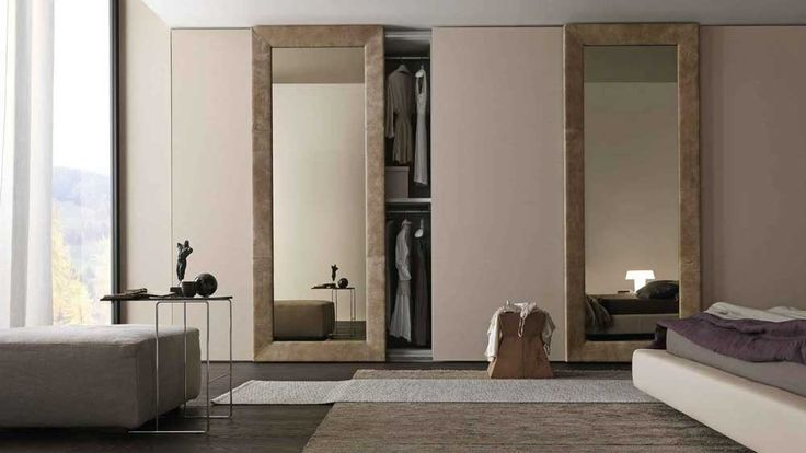 Bedroom Cupboard Design Ideas with mirror on sliding door next white sofa and low master bed inspiring bedroom wardrobe designs creative shape and styles bed wardrobe
