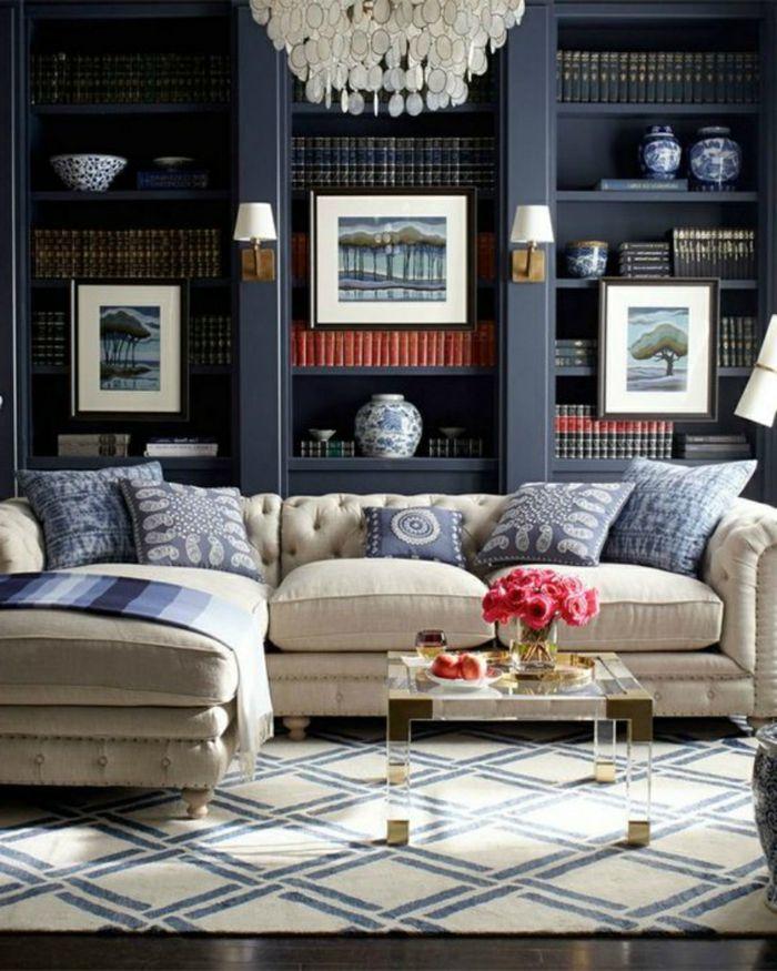 688 best images about wohnzimmer ideen on pinterest | minimalist ... - Wohnzimmer Deko Blau