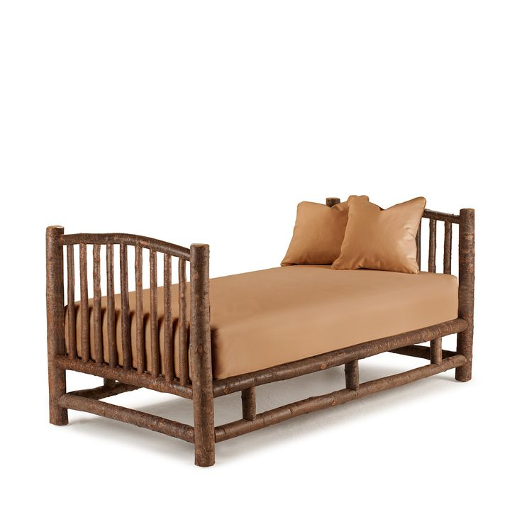 Rustic Daybed #4016 shown in Natural Finish (on Bark) by La Lune Collection