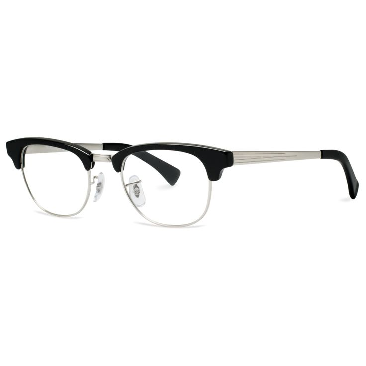 048c2d6a570 ... black and silver luxottica ray-ban eyewear men. Meet the new Clubmaster   optical frame from Ray-Ban . A vintage favorite