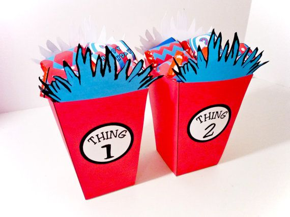 Dr Seuss Thing 1 and 2 PRINTABLE PARTY Treat by OpalandMae
