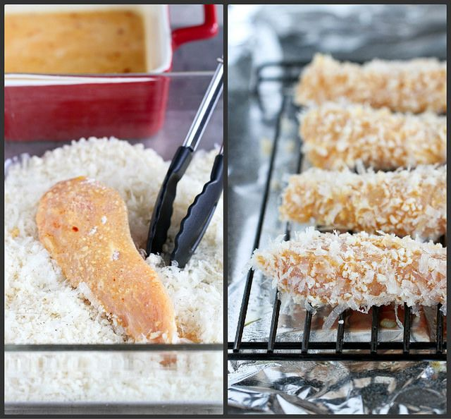 Crispy Baked Parmesan-Crusted Chicken Tenders Recipe | cookincanuck.com #chicken by CookinCanuck, via Flickr