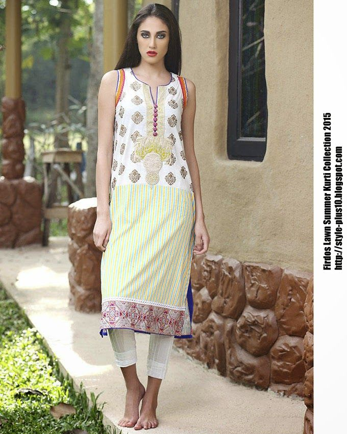15-EXC-K8B From FIRDOUS Carnival Kurti Collection 2015