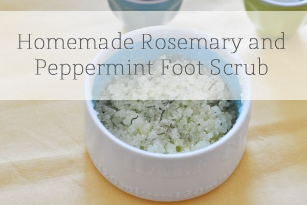 The Small Things Blog: Homemade Rosemary and Peppermint Foot Scrub