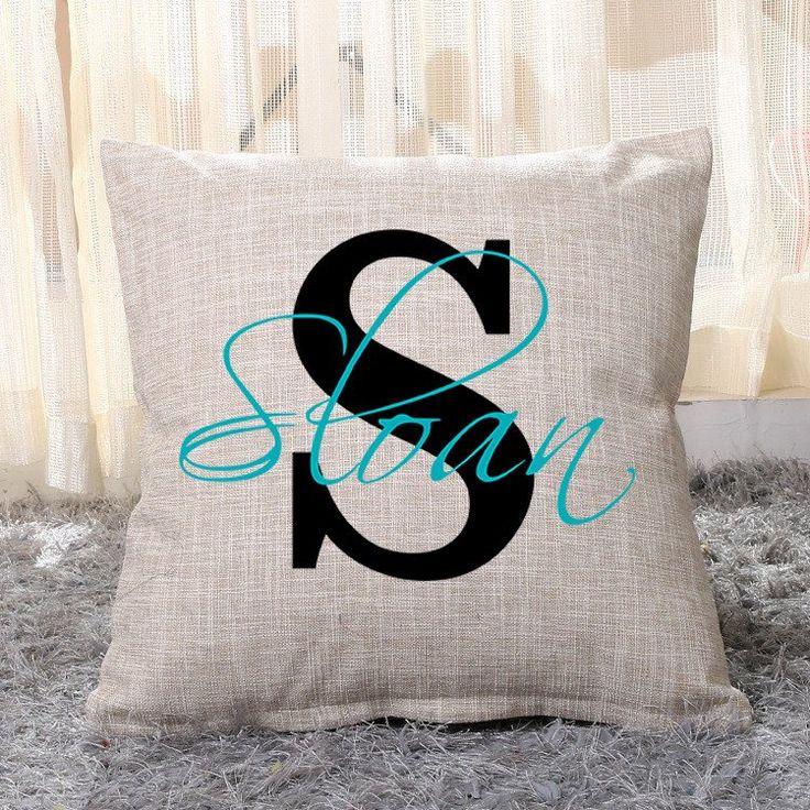 Monogram Name Pillow Cover
