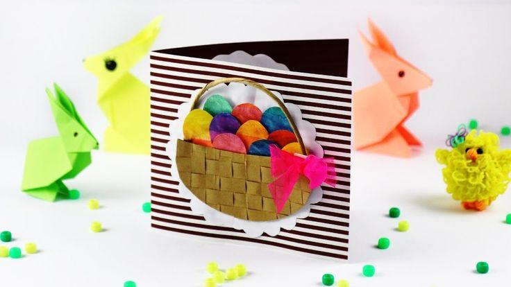 Пасхальный декор, корзинка с яйцами - пасхальные поделки для детей