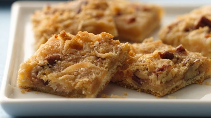 These chewy crescent bars are an adaptation of a winning Bake-Off® contest recipe. This version has 33% less sugar and contains 11% fewer calories than the full-sugar version.