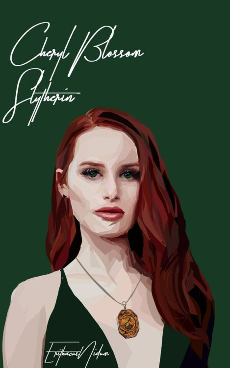 Cheryl Blossom Hogwarts AU //please don't repost or remove credit more Riverdale art