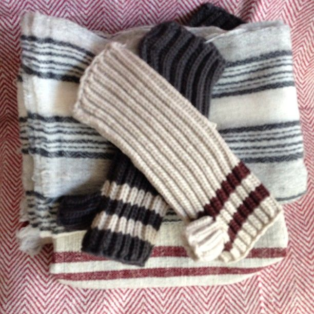 The lightest, softest  scarves in the shop, and the perfect fingerless gloves to match.