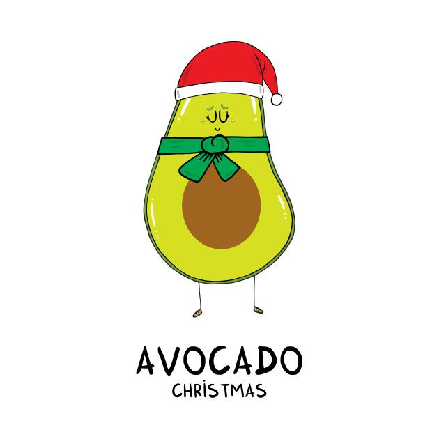 Check out this awesome 'Avocado+Christmas' design on @TeePublic!