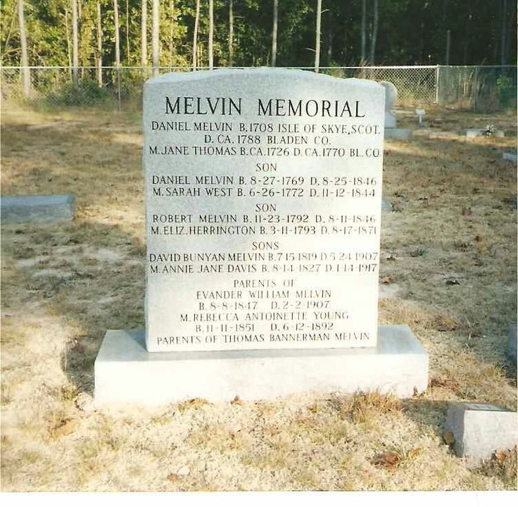 My Melvin ancestors. Daniel Melvin was my gggggg grandfather. I descend through James Herrington Melvin, son of Robert Melvin and Elizabeth Herrington Melvin.