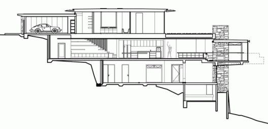 Delany House / Jorge Hrdina Architects Section