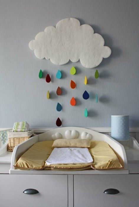 Felt wall decor. Love this for over the changing area!