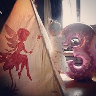 Do you believe in #fairies ? I do! ... Cause I have two of them  #soproud #mydaughter  #teepee #teepeelicious #pompom #believe #socute #babygirl #kidsroominspo #kidsroomdecor #customade #handmade #madeingreece #nurserydecor #kidsinterior #girlroom #3yearsold #fegarenia #balloon