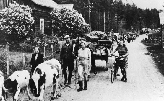 Winter War evacuees from Karelia Finland Suomen talvisota 1939-1940